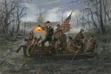 """Bức tranh vẽ Tổng thống Trump """"Vượt qua đầm lầy"""" trở nên nổi tiếng"""
