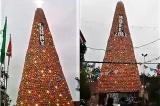 Cây thông Noel làm từ nồi đất