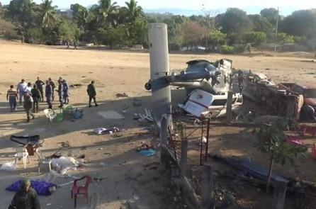 Mexico: Máy bay trực thăng thị sát sau động đất bị tai nạn, 14 người chết
