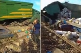 Quảng Nam: Hai đoàn tàu tông nhau, nhiều toa tàu bị lật