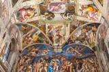 Các mái vòm và bức tranh trên trần nhà nguyện Sistine của Michelangelo