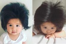 Bé gái Nhật Bản có mái tóc kỳ lạ