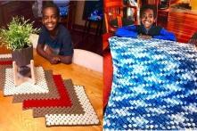 """Cậu bé 11 tuổi ở Mỹ được mệnh danh là """"thiên tài đan len"""""""