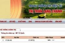 Thanh Hóa: Bắt dân chui háng, vẫn làm Chủ tịch MTTQ
