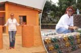 Người phụ nữ dùng chai nhựa xây 300 ngôi nhà cho người nghèo