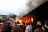 Cháy lớn tại chợ Mộc Bài, nhiều tài sản bị thiêu rụi